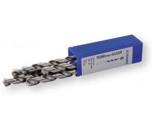 Спиральные сверла DIN 338 HSS 130 градус 8 мм с цилиндрическим хвостовиком Berner