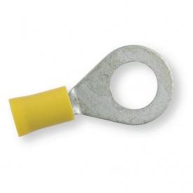 Клема обтискна ізольована кільцева Berner жовта 10,4 мм