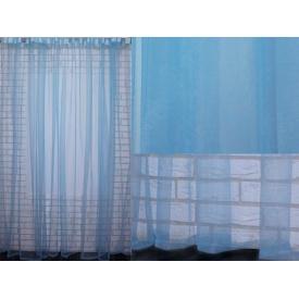 Тюль фатин 500 × 250 см голубой монохромный VR-Textil (2092)