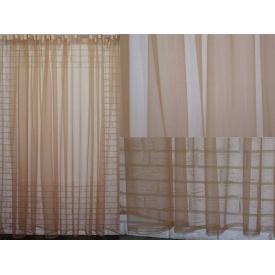 Тюль фатин 500 × 250 см коричневый монохромный VR-Textil (2098)