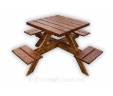 Стол садовый для пикника с 4 стульчиками 150 кг