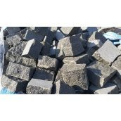 Бруківка гранітна колота Габро 10х10х5 см