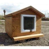 Домик для кота 30х40 с дверками утепленный