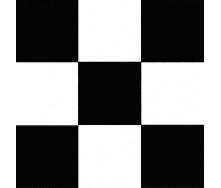 Чорно білий лінолеум шахова дошка 085-1