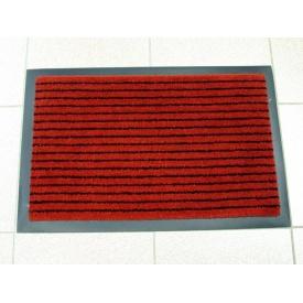 Придверный грязезащитный коврик на резиновой основе с окантовкой Condor Entree 40x60 красный