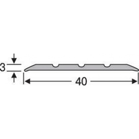 Порожек напольный алюминиевый анодированный 40мм серебро 2,7м