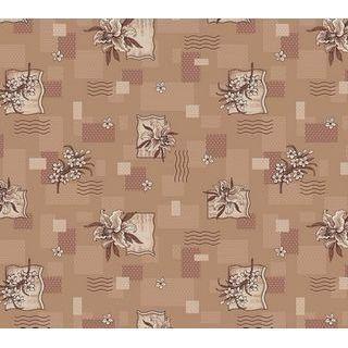 Ковролин для дома Лилия коричневый на войлочной основе цветной