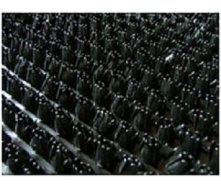 Рулонне брудозахисне вхідне щетинисте пластикове покриття 12х900х15000 мм чорне
