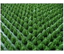 Рулонне брудозахисне вхідне щетинисте пластикове покриття 12х900х15000 мм темно-зелене