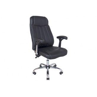 Офісне крісло Richman Фабіо 1160-1080х500х500 мм чорний перфорований кожзам