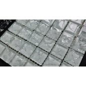 Скляна мозаїка Керамік Полісся Gretta White 300х300х6 мм