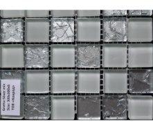 Скляна мозаїка Керамік Полісся Gretta Silver Mix 300х300х6 мм
