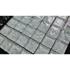 Стеклянная мозаика Керамик Полесье Gretta White 300х300х6 мм