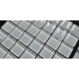 Скляна мозаїка Керамік Полісся Silver White 300х300х6 мм