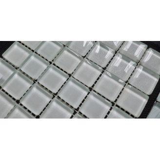 Стеклянная мозаика Керамик Полесье Silver White 300х300х6 мм