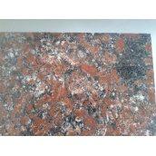 Гранітна плитка  аномалією  кольору Капустинського р-ща Rosso Santiago 400Х400Х20 мм