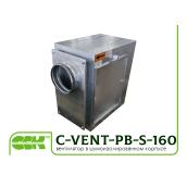 Вентилятор канальний з назад загнутими лопатками в звукоізольованому корпусі C-VENT-PB-S-160В-4-220