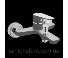 Смеситель для ванны Invena DOKOS графит хром