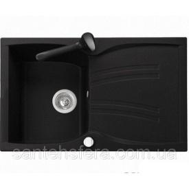 Кухонная гранитная мойка ADAMANT NEW LINE 790x500x235 мм черная
