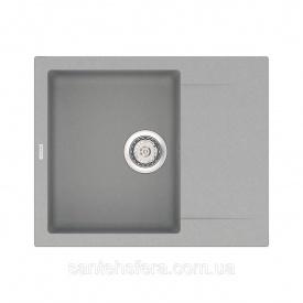 Кварцевая кухонная мойка VANKOR Orman OMP 02.61 Gray