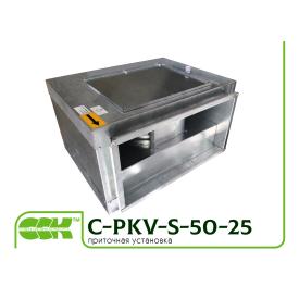 Канальный прямоугольный вентилятор C-PKV-S-50-25-4-220 в шумоизолированном корпусе