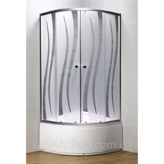 Душова кабіна Murals Wave 33 W 90x90x195 см