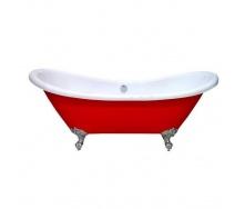 Акриловая ванна Atlantis C-3140 красная c переливом