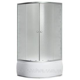 Душевой угол Sansa S-80/40 80х80х196 см профиль сатин стекло фабрик