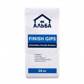 Шпаклевка гипсовая Альба Super Finish 20 кг