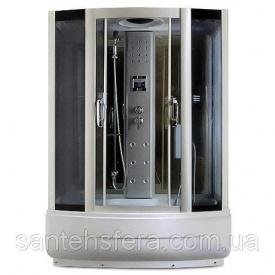 Гідробокс Miracle TS 8002 з електронікою 150х85 см профіль сатин скло сіре
