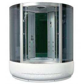 Гідробокс Miracle F 39-3 з електронікою 150х150 см профіль сатин скло сіре