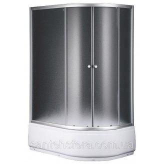 Душевой угол Sansa S120-80/45L 120x80х197 см асимметрия профиль сатин стекло шиншилла