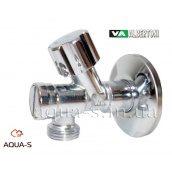 """Кран кутовий приладовий вентильний Albertoni 1/2""""x1/2"""" з вбудованим фільтром на 800 мкм"""