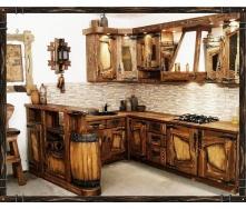Виготовлення кухні з масиву дерева під старовину
