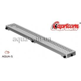 Решетка для душевого трапа Capricorn CUBE 600x127 мм нержавеющая хромированная
