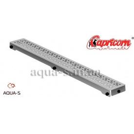 Решетка для душевого трапа Capricorn ORIENT 1000x127 мм нержавеющая хромированная