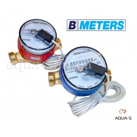 """Комплект імпульсних лічильників BMeters GSD8-R ХВ+ГВ DN 20 G1"""" база 130 мм"""