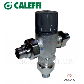 """Клапан термосмесительный регулируемый CALEFFI 1/2"""" T 30-65° C (521400)"""