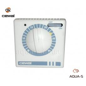 Термостат комнатный Cewal RQ 30 механический с выключателем для отопления