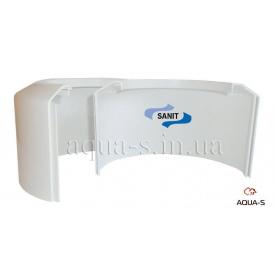 Накладка біла декоративна розбірна для каналізації 110 SANIT