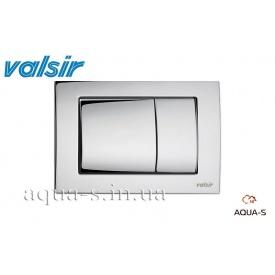 Панель смыва Valsir P6 Tropea 3 хром METAL 3/6 л