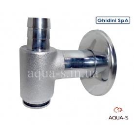 Сифон зовнішній металевий GHIDINI D 32 хром для підключення пральних машин