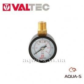 """Манометр з верхнім підключенням 40 мм 1/4"""" 0-6 бар VALTEC VT TM40VC02"""