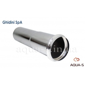 Патрубок-подовжувач хромований Ghidini з бортом 32x130 мм для умивальників