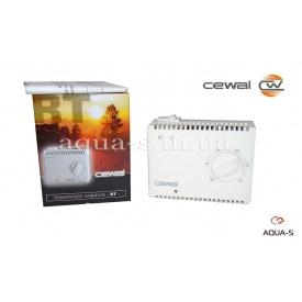 Термостат комнатный Cewal RT 40 механический с выключателем для отопления