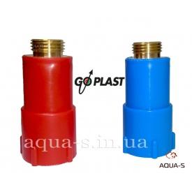 """Комплект длинных пробок с резьбой 1/2"""" для сантехники латунь-пластик Go-Plast"""