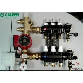 """Коллекторный блок Caleffi (1825С1) со смесительной группой и насосом на 4 выхода DN 1"""""""