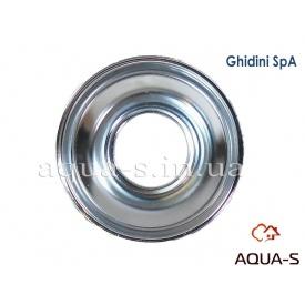 Декоративна чашка з нержавіючої сталі Ghidini 26x75x25 мм для сантехніки