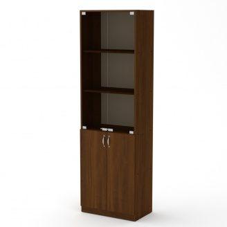 Книжный шкаф Компанит КШ-6 1950x600x366 мм орех экко