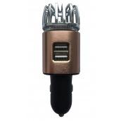 Іонізатор повітря EcoFuture Car Air Purifier з зарядним пристроєм бронзовий (101)